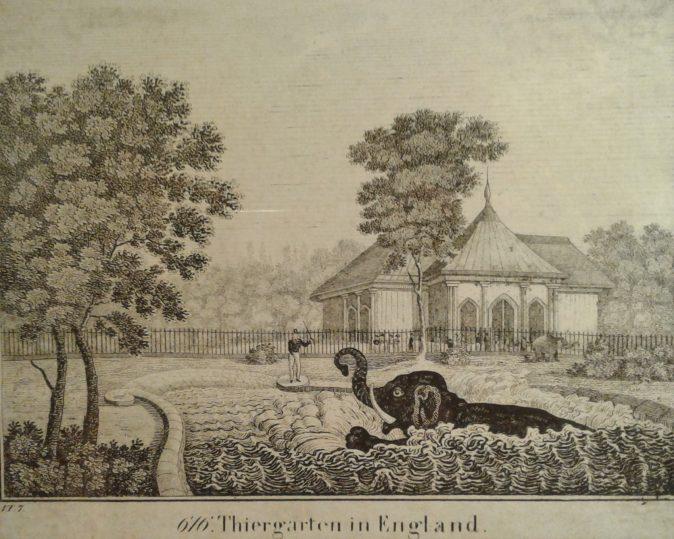 Zoológico de Londres, c. 1830