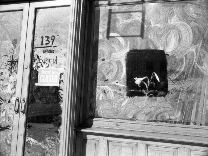 Lily Sverner. We're closed, Brooklin, NY, 1986